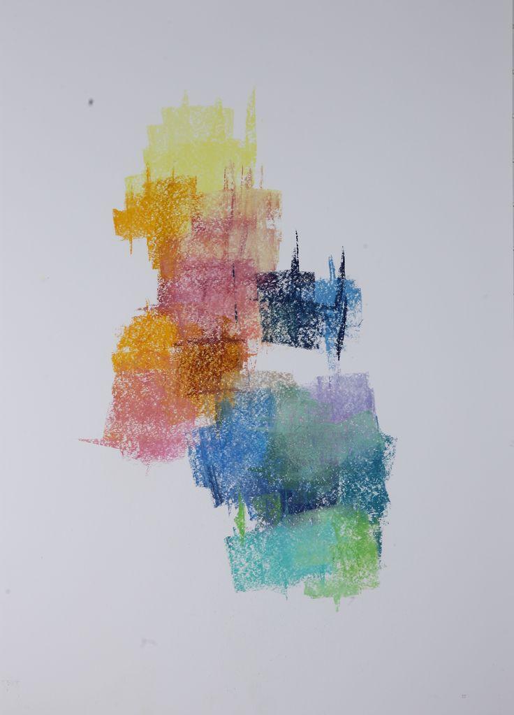 Michael Třeštík, 400 colors on 10 sheets, series I, No. 5, 2016, pastel A1