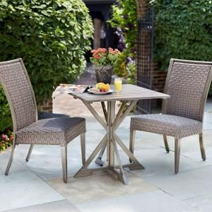 Hampton Bay Carleton Place 3 Piece Patio Bistro Set RXHD 43 3DSET At