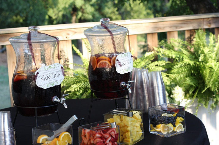 sangria station country chic wedding purple white wedding. Black Bedroom Furniture Sets. Home Design Ideas