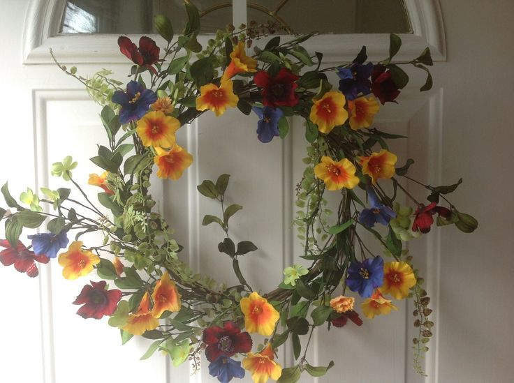 Wreaths For Door - Tooties Colorful Trumpet Artificial Door Wreath, $49.99 (http://www.wreathsfordoor.com/tooties-colorful-trumpet-artificial-door-wreath/)