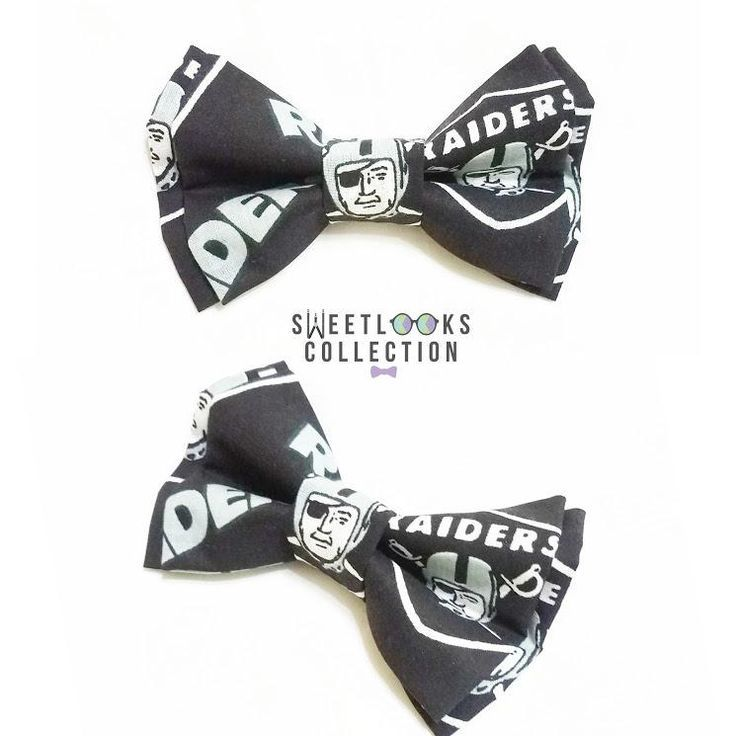 6f9d1aa11cf7 Oakland Raiders Bow Ties and Hair Bows | Football Party Inspiration ...