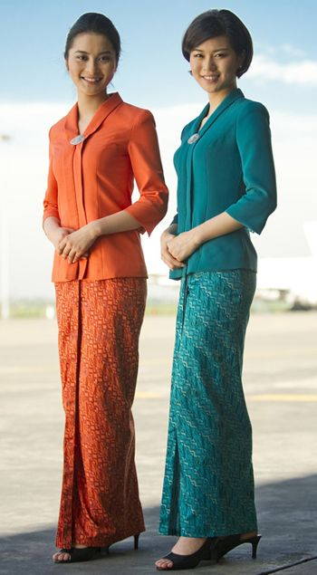 Two out of three Garuda Indonesia's beautiful uniforms. Gonna wear that with pride someday!
