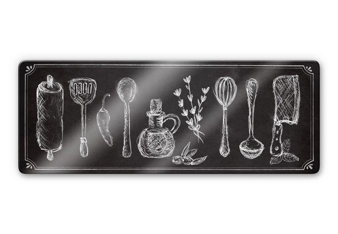 Glasschilderijen Rustic Kitchen - Panorama