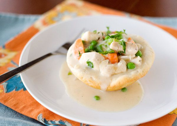 Inside Out Chicken Pot Pies #Pillsbury #biscuits