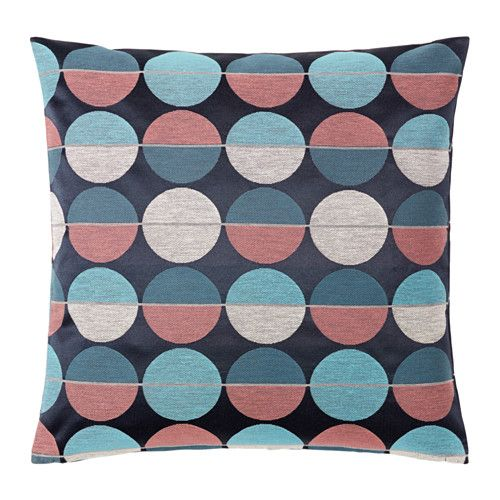 IKEA OTTIL Cushion cover Blue/pink 50x50 cm Jacquard weave gives the cushion cover a pattern with a subtle, slightly raised relief.