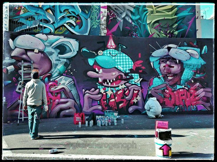 """Sky is the limit"". Street art in Marseille."