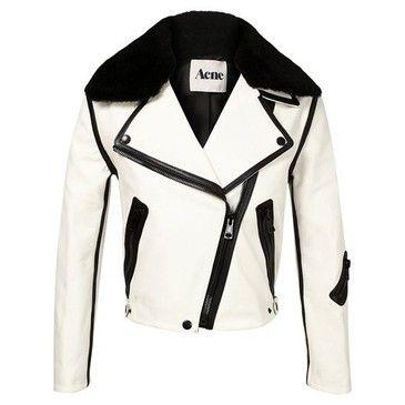 Acne White Leather Jacket