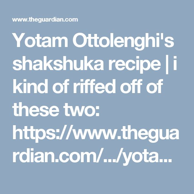 Yotam Ottolenghi's shakshuka recipe | i kind of riffed off of these two: https://www.theguardian.com/.../yotam-ottolenghi... and http://toriavey.com/.../summer-2010-travel-blog-shakshuka/. used slightly more than 1/8c of olive oil, 2 (green) peppers, 1 large onion, ground cumin and thyme instead of seeds/springs (added with the onions), included the saffron and paprika, skipped the cilantro, parsley. and tomato paste. i didn't need to add any water either.