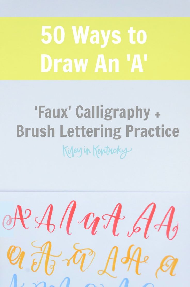 50 Ways to Draw An A! This post explores this excellent creativity booster  and practice for the 'faux' calligrapher and brush letterer!