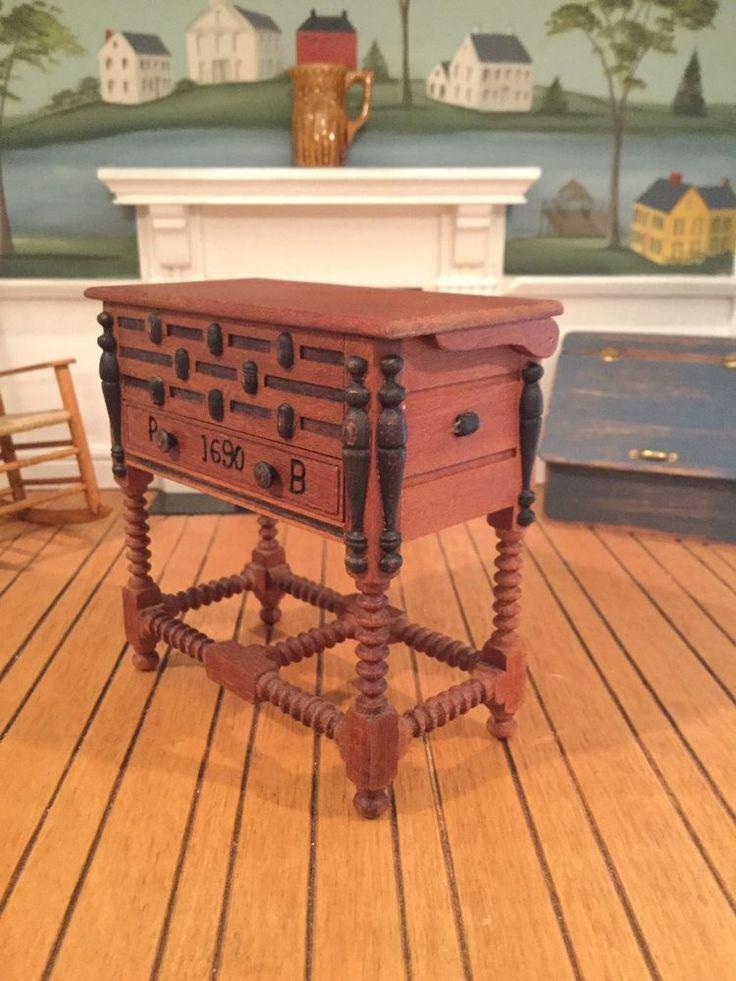 Dollhouse Miniature Artisan Signed Warren Dick Chest