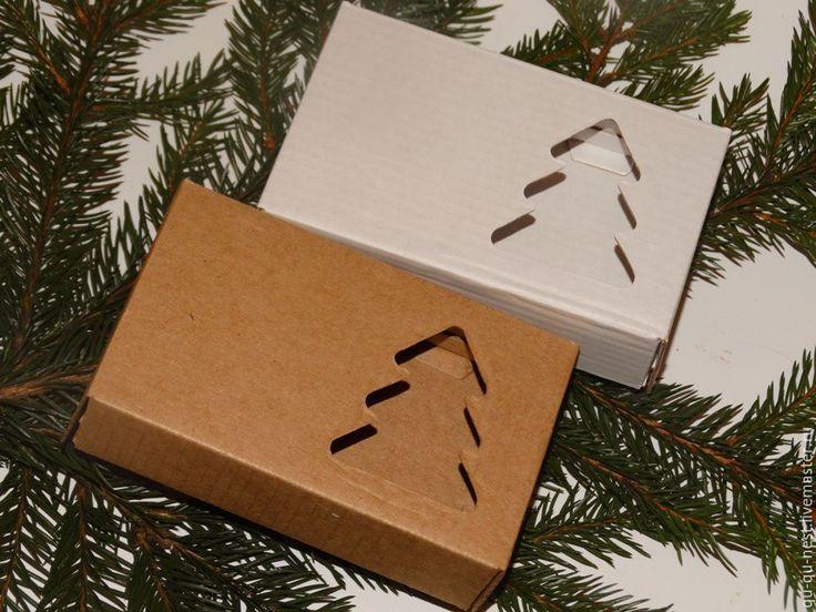 """Купить Коробочка """"Елка"""", картон - елка, ель, упаковка для мыла, КОРОБОЧКА ДЛЯ МЫЛА"""