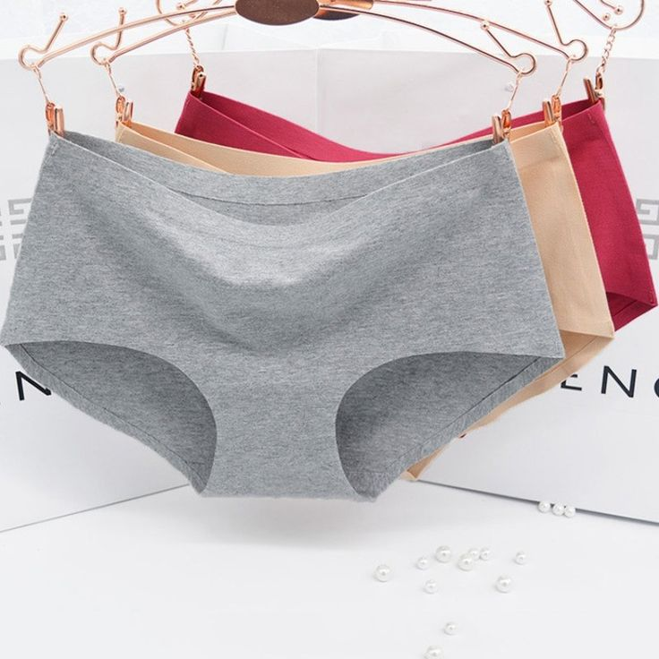 1.62$  Watch here - Solid Color One Piece Women's Panties Non-trace Seamless Underwear Sexy Briefs Natural Cotton Briefs M-XL   #buychinaproducts