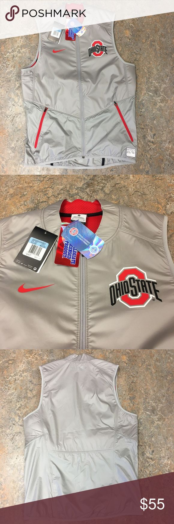 Ohio State Buckeyes Nike Elite Game Vest Jacket Ohio State Buckeyes Nike Elite Full Zip Game Vest. Save money by bundling with other items in my store. Nike Jackets & Coats Vests