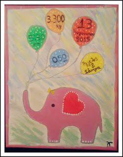αναμνηστικό καδράκι γέννησης, birth certificate canvas