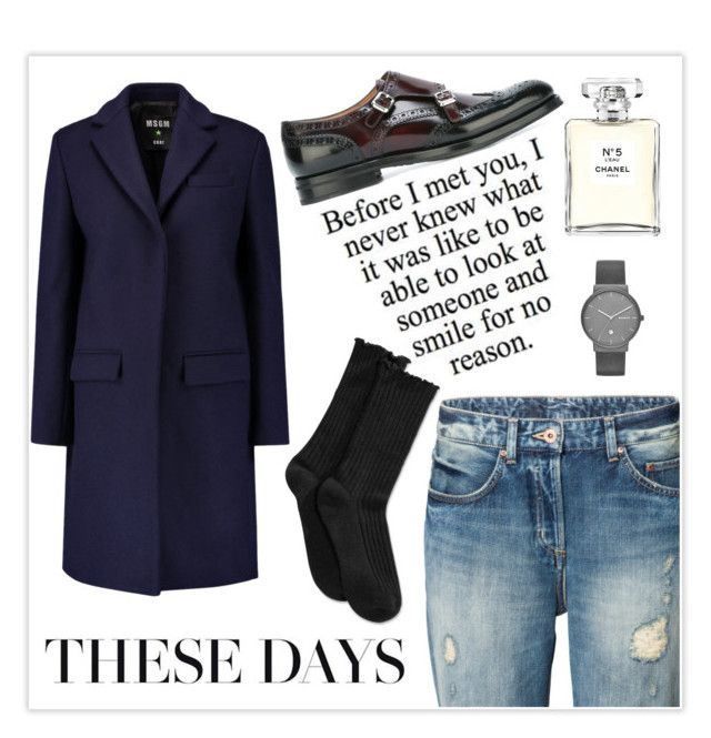"""""""Untitled #23"""" by siggan22 on Polyvore featuring MSGM, Church's, Hue, Skagen and Chanel"""