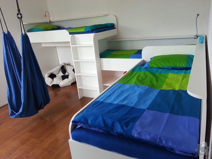 Nejremeslnici.cz: Po vypracování 3d návrhu jsem na přání zákazníka vyrobil do dětského pokoje tři postele spojené do tvaru L