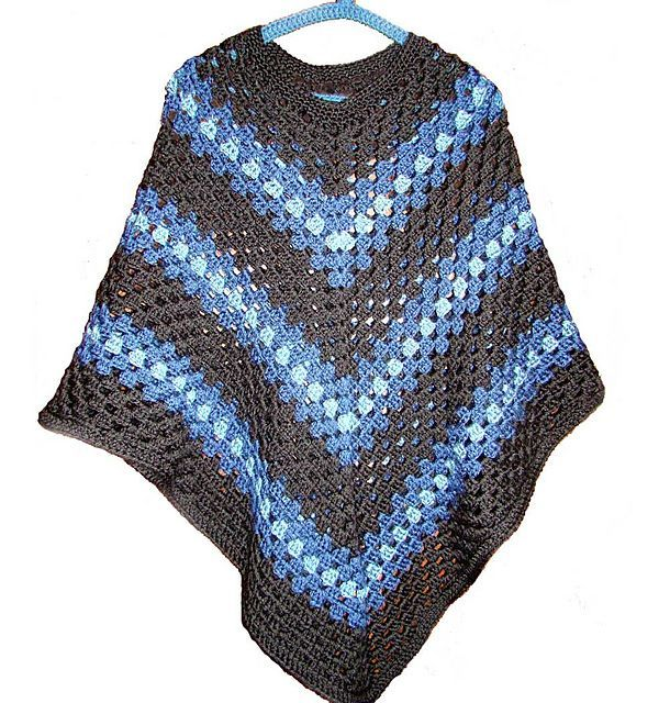 EASY-CROCHET PONCHO: Size: Stretches to fit a range of sizes - sample poncho is elbow length Materials: 800 yds. Description from pinterest.com. I searched for this on bing.com/images