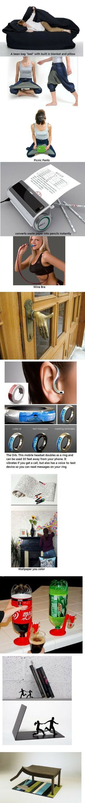 cool stuff. i want the wine bra.. Picnic Pants Wine Bra The Orb. T s mobile headset doubles as a ring and can be used 30 feet away from your...