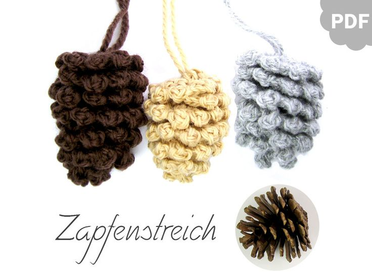 pineconesKnits Crochet, Herbst Dekoration, Products, Crochet Pretty, Häkelanleitung Tannenzapfen, Ebook