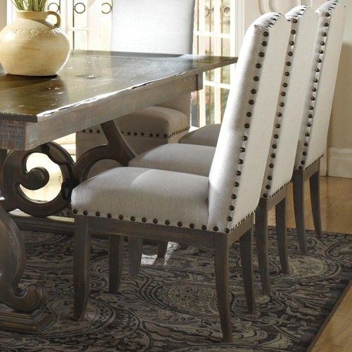 Canadel Champlain   Custom Dining Customizable Upholstered Side Chair With  Nailhead Trim   Wayside Furniture