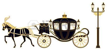 principessa vintage: Carrozza trainata da cavalli
