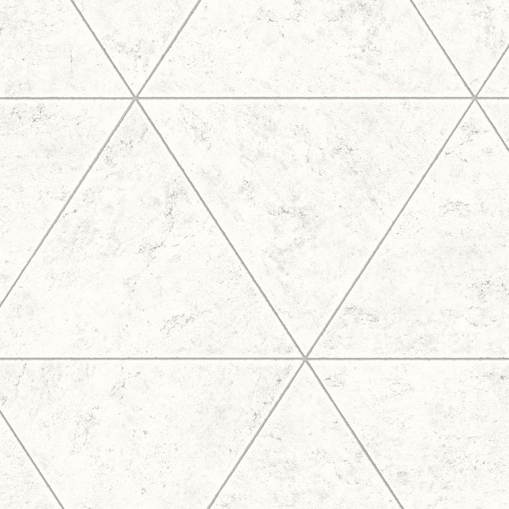 An off white and silver polished concrete tiles design from A Street Prints. Grey grout lines frame the pattern and pop against the mottled metallic silver tones of the tile surface.