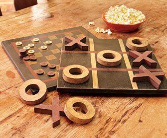 Classic Checkers & Tic-Tac-Toe