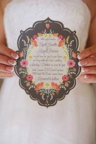 Convite de casamento perfeito para quem vai de destination wedding, quando os convidados tem que viajar para a festa!Foto: Asjarai...