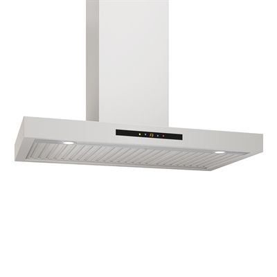 Ancona AN-11 Convertible Wall Mounted Rectangular Range Hood with LED lights in Stainless Steel