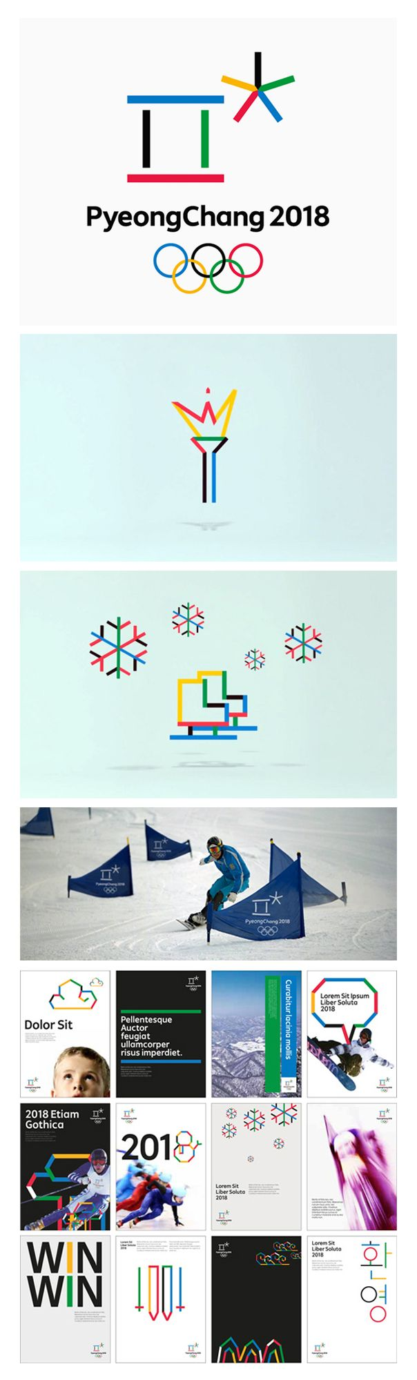 Winter #Olympics branding for 2018 is all about harmony - #PyeongChang2018 #XXIIIOlympic