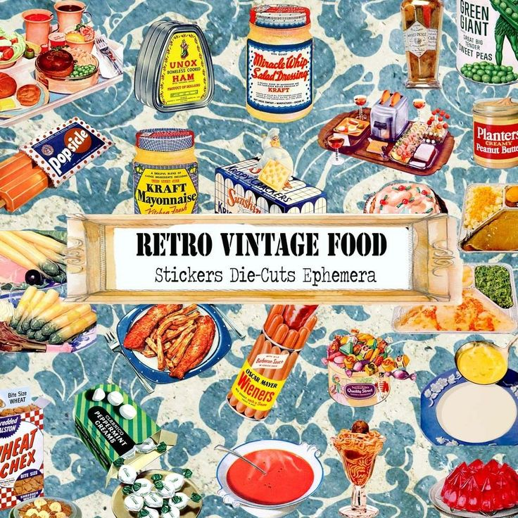 Retro Vintage Food Die-Cuts Stickers Ephemera Paper Scrapbook Card Decoupage