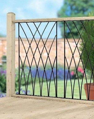 MDP Modern Wrought Iron Metal Deck Decking Fence Panels