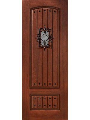 2 Panel V-Groove Walnut and Cherry Door with Speakeasy \u0026 Clavos \u2022 8\u0027  sc 1 st  Pinterest & 8 best Doors with Clavos images on Pinterest | Entrance doors Front ...