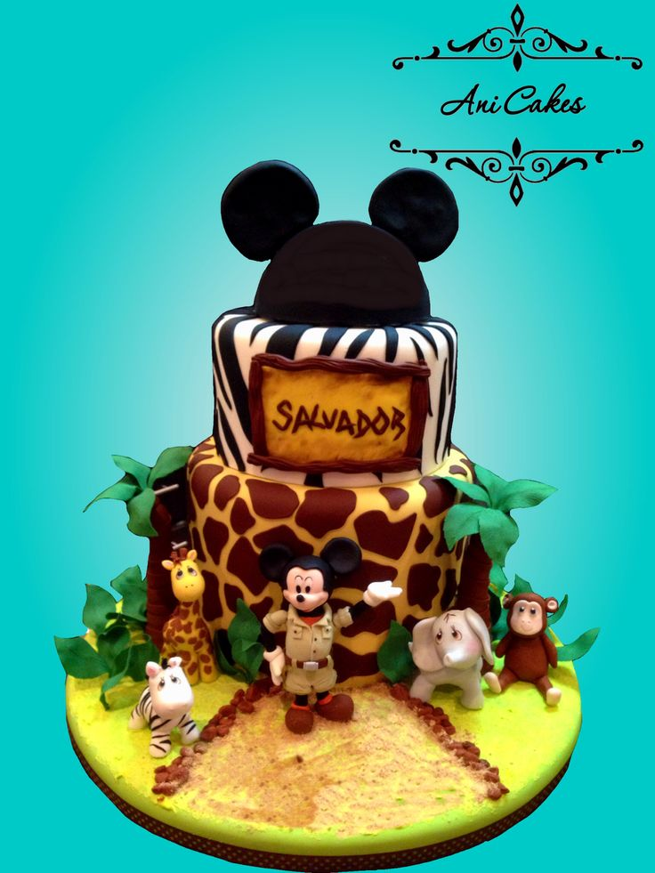 Mickey Safari Cake