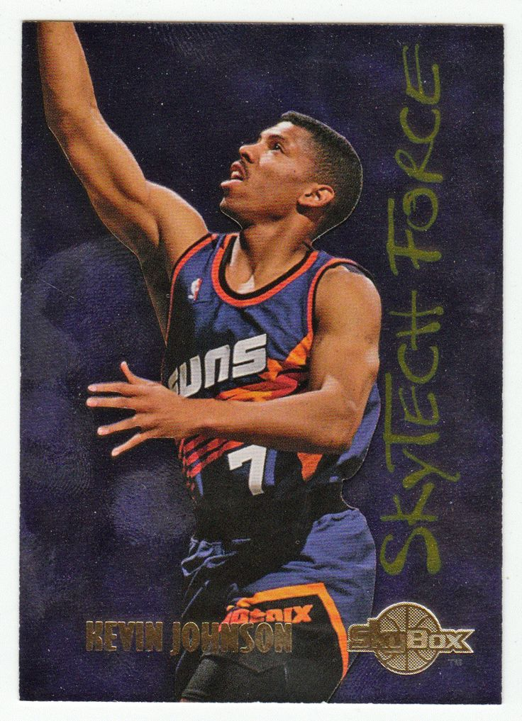 Kevin Johnson # SF 8 - 1994-95 SkyBox Premium Basketball SkyTech Force