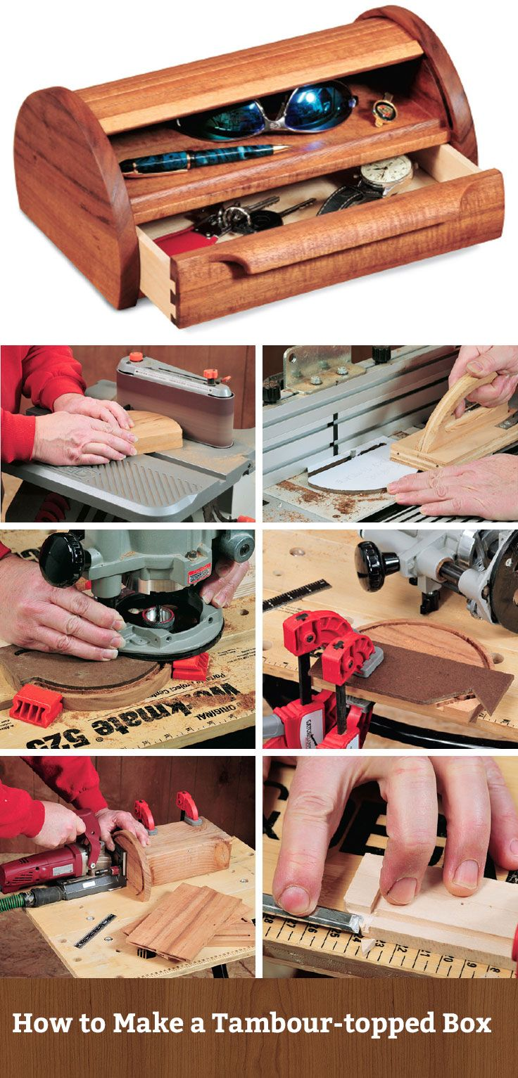 How to Make a Tambour-topped Box - Step by step guide with in progress photos…