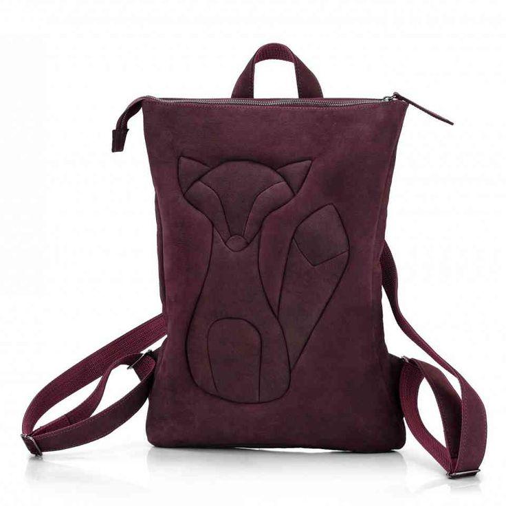 Женский кожаный рюкзак ручной работы / Рюкзак с лисой / Рюкзаки женские Leonid Titow