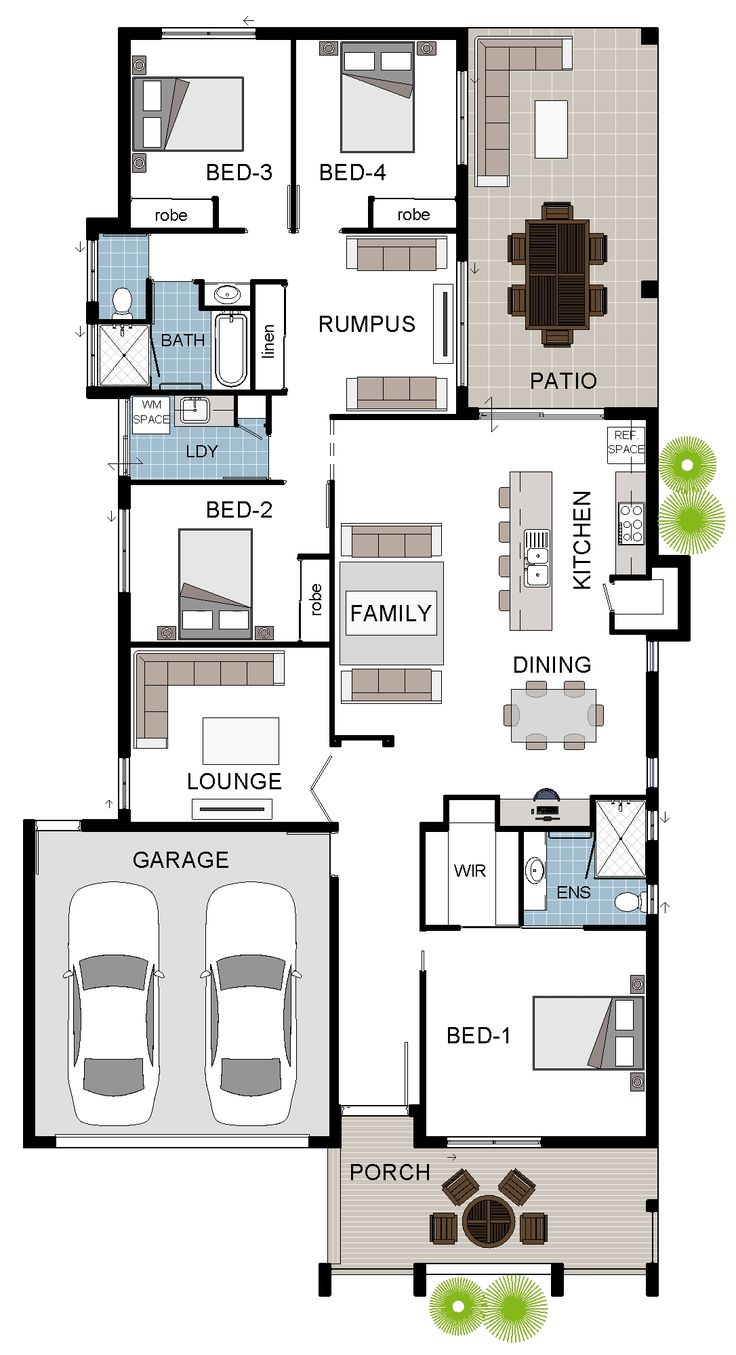 ed9203af259f0b4c889e87dca2b3245d I Story House Floor Plans Bedrooms Design on