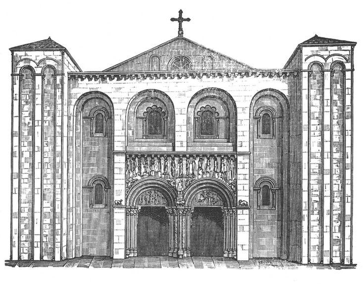 Santiago de compostela catedral de xacopedia dibujo - Arquitectos en santiago de compostela ...