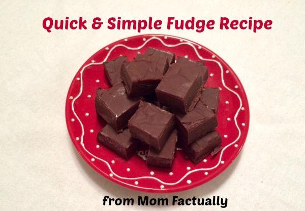 Quick and Simple Fudge Recipe