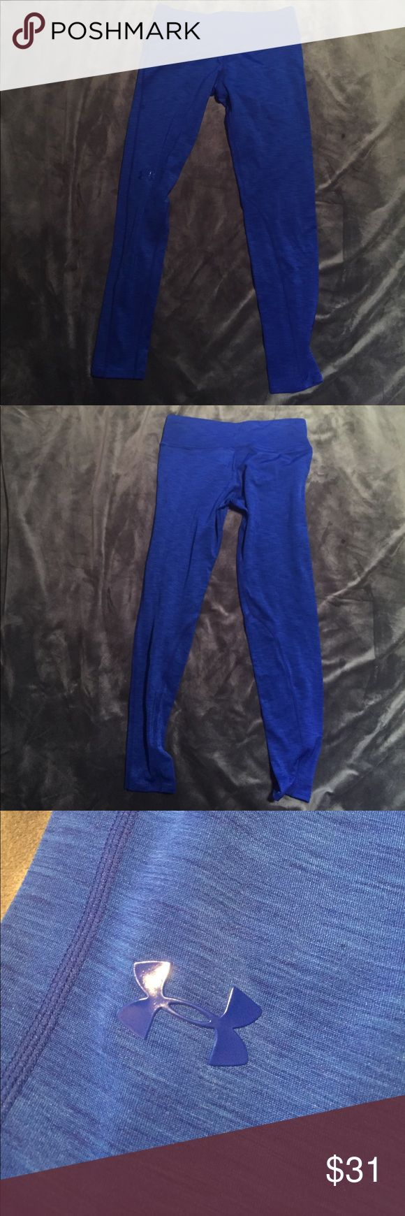 Underarmour heat gear leggings Under armour coldgear leggings in a beautiful cobalt blue color from under armour Japan, new with tags Under Armour Pants Leggings