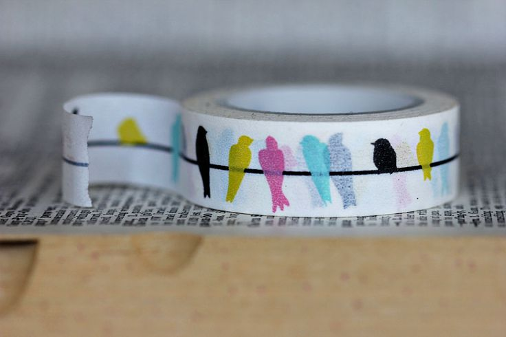 Birds on a Wire Washi Tape  #downtowntape #washi #washi tape downtowntape.com