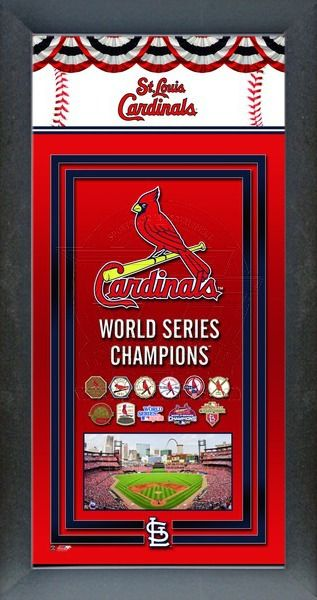 St. Louis Cardinals World Series Championship Banner Framed picture with all World Series wins