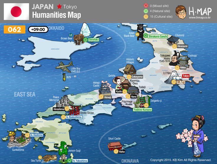 Best Japan Unesco Map Images On Pinterest Travel Beautiful - Map 0f japan