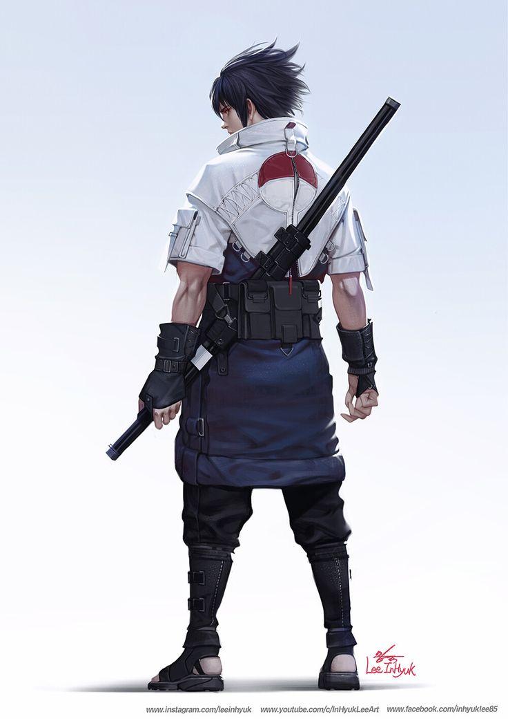 ArtStation Uchiha Sasuke, InHyuk Lee in 2020 Naruto