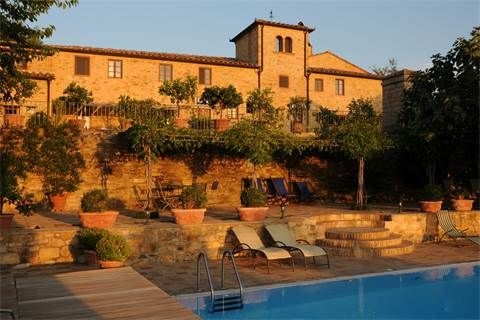 Single Family Home for Sale at Lovely villa with vineyards in the Chianti Classico Strada Cerbaia Firenze, Florence, 50028 Italy