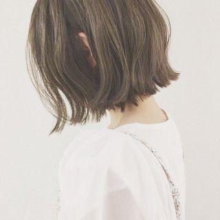 【HAIR】津村正和/大阪/切りっぱなしボブ/グレージュさんのヘアスタイルスナップ(ID:303317)