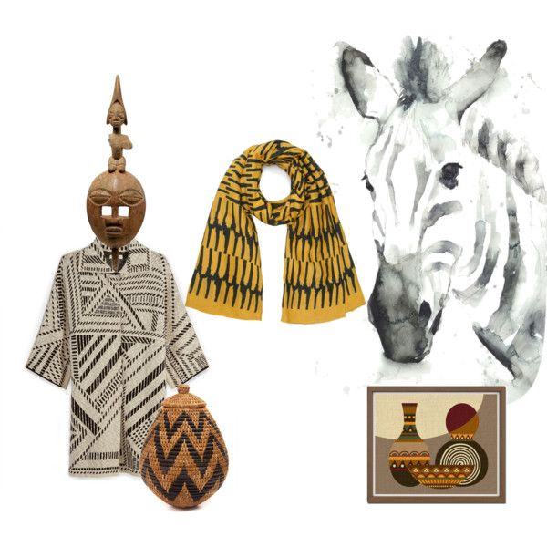 Africa Tribal chic by florenzcollection on Polyvore featuring moda, Tory Burch, Florenz and Leftbank Art