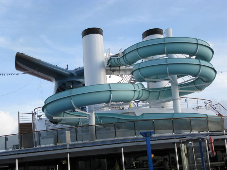 W Water Slide On Carnival Miracle A Carnival Cruise