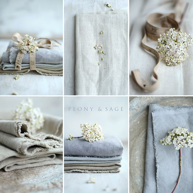 Beautiful thick soft plain linens by Peony and Sage